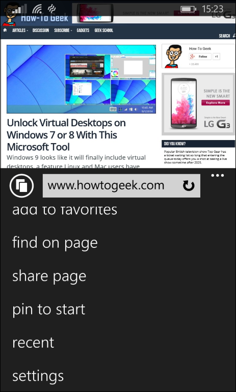 In Home Page to add websites to the home screen on any smartphone or tablet
