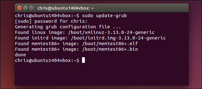 sudo-update-grub