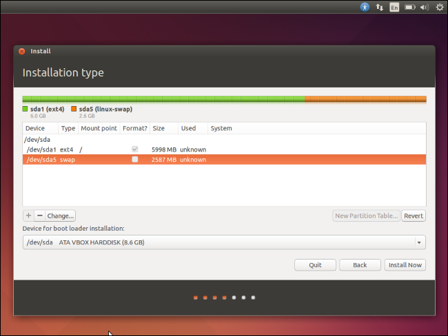 ubuntu-install-choose-swap-size