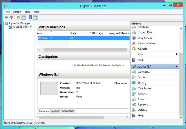 hyper-v-manager-start-virtual-machine