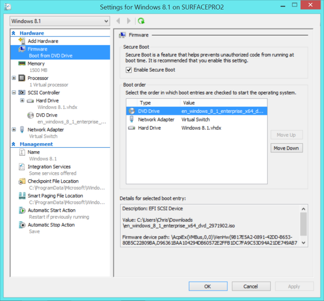 virtual-machine's-settings-in-hyper-v