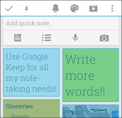 how to use google notes