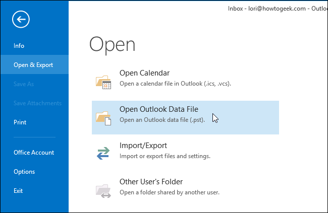 how to see an archived outlook file