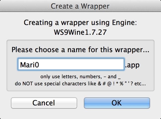 Running Windows Apps/Games on a Mac using Wineskin