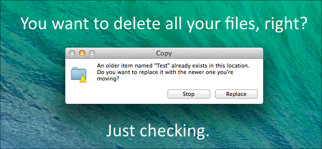 default mac os x finder merge behavior deletes your files