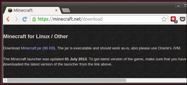 download-minecraft-for-linux