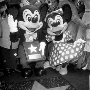 the first cartoon character to get a star on the walk of