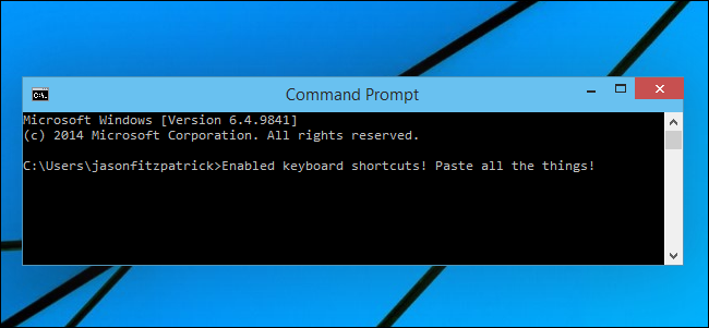 How to enable ctrlc ctrlv for pasting in the windows command prompt ccuart Choice Image