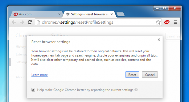 chrome browser cleanup tool