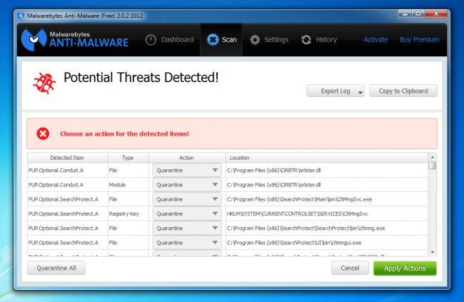 malwarebytes adwcleaner bleeping computer