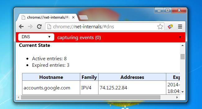 How to Clear the Google Chrome DNS cache on Windows