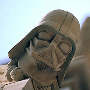Photo depicting the Darth Vader grotesque.