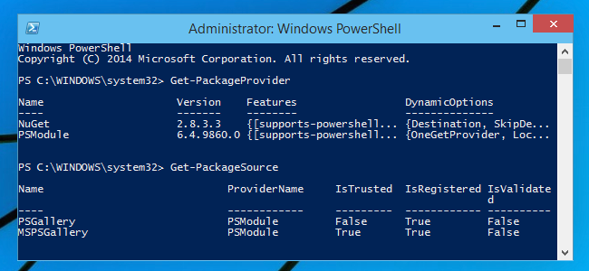 More Details About OneGet, Windows 10's Package-Management