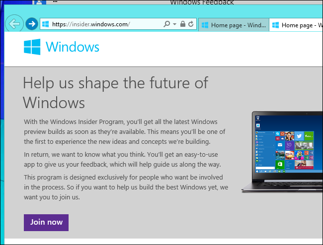 join-windows-insider-program-for-feedback-app