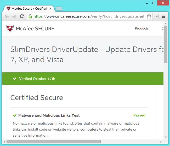 mcafee-driverupdate-useless-certification