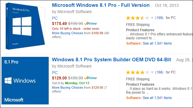 windows 7 home premium oem vs retail