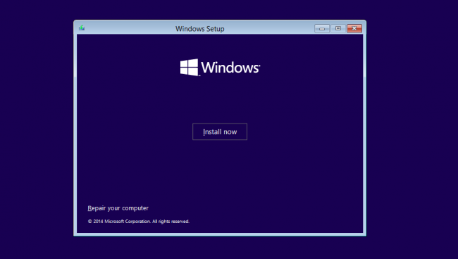 instalare windows