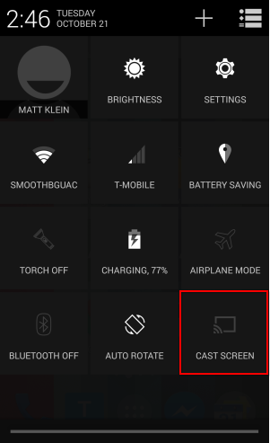 android how to cast screen but turn off