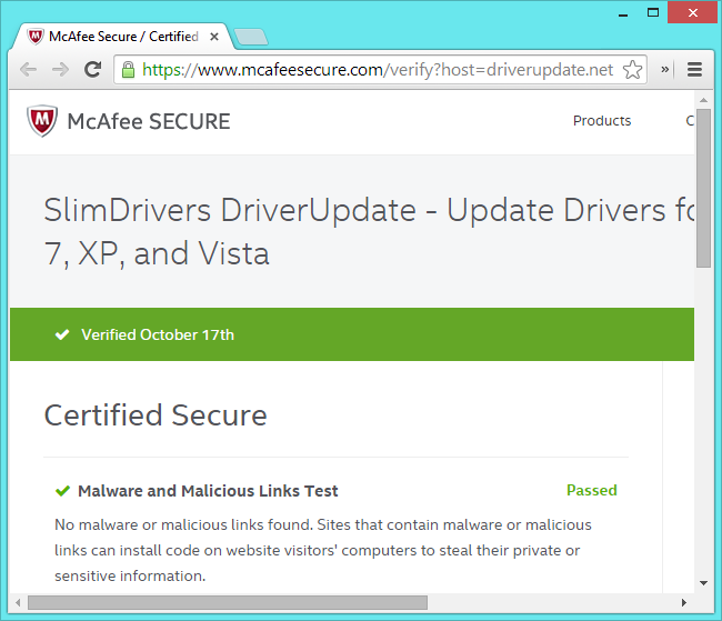 mcafee-driverupdate-useless-certification