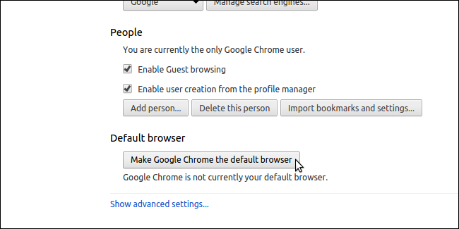 how to make your other google account default
