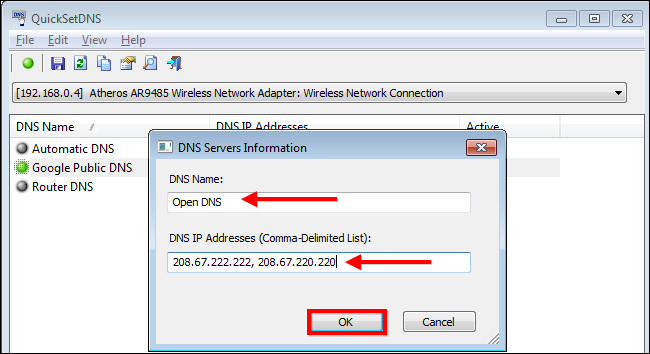 How to Create a Shortcut to Change your DNS Server in Windows