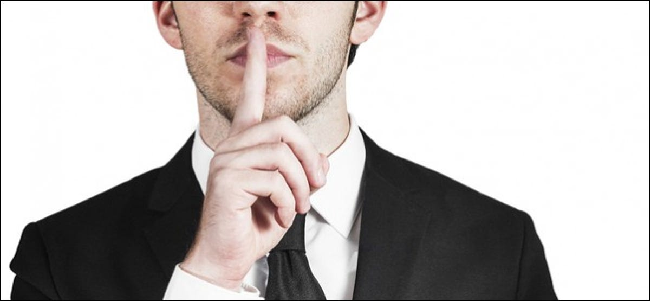 Businessman Silent Quiet