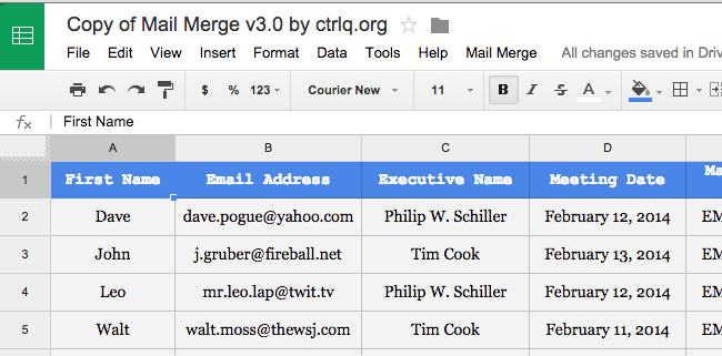 google apps email templates - 8 surprisingly useful things you can do with google sheets