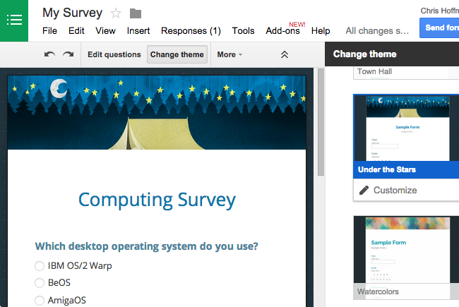 Create a Web-Based Survey the Easy Way With Google Forms