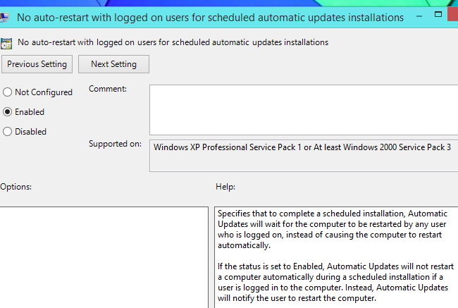 How do you avoid failure while configuring Windows updates?