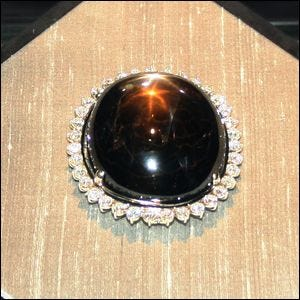 Photograph of the Black Star of Queensland diamond.