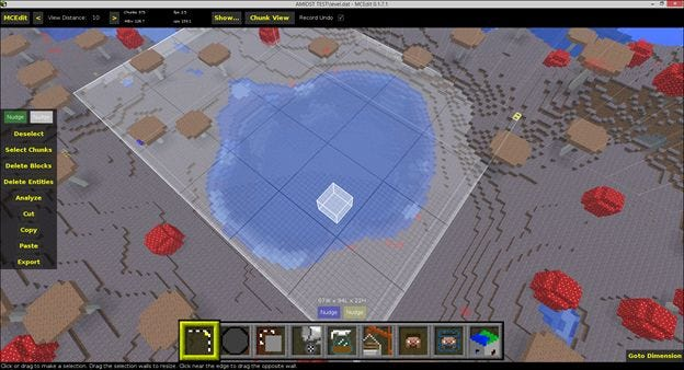 How to edit your minecraft maps with an external editor remember the selection should be 3d if youre working with something like a pond so be sure to fly around it and make sure youve make your selection deep gumiabroncs Choice Image