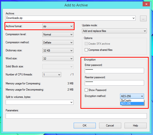 How to Create Encrypted Zip or 7z Archives on Any Operating
