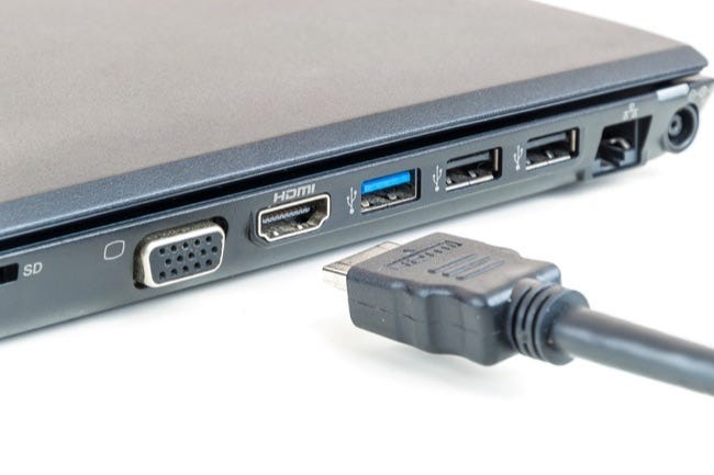 Plugging In Hdmi Cable To Laptop