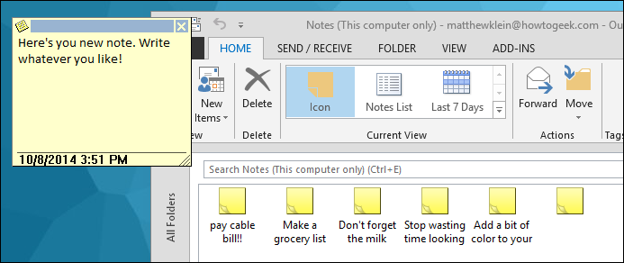 how to use onenote and outlook together