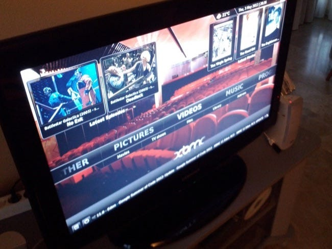 xbmc tv interface