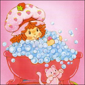 An early example of Strawberry Shortcake artwork.