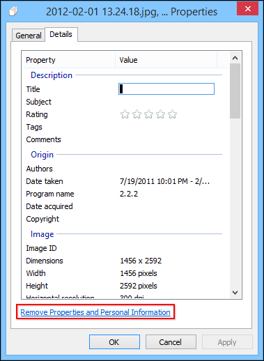 On The Remove Properties Dialog You Can Create A Copy Of Your Photos With All Possible Removed Alternatively Click