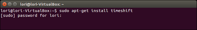 01_command_to_install_timeshift