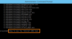 How to Change File Attributes with Attrib from the Windows Command Prompt