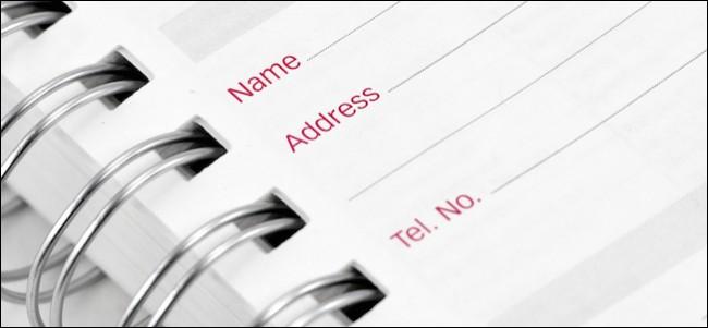 Address Book Close Up