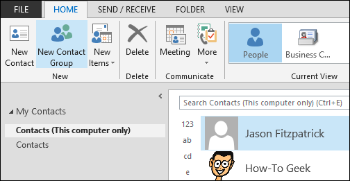 How to Create and Manage Contacts in Outlook 2013
