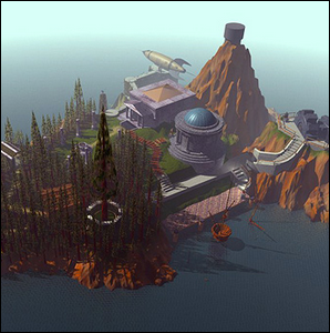 Promotional picture of Myst Island.