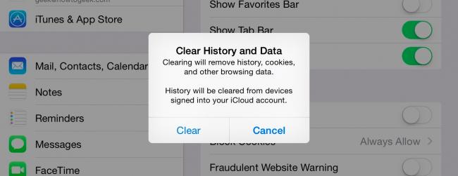 Should i clear cookies