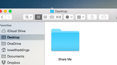 How to Share a Network Folder from OS X to Windows