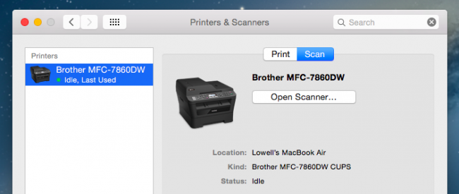 Scanning in OS X is Easy