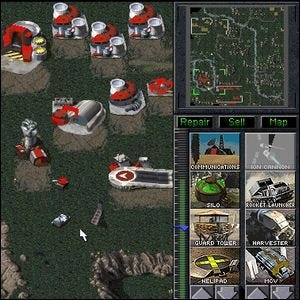 Screenshot of an early version of Command and Conquer.