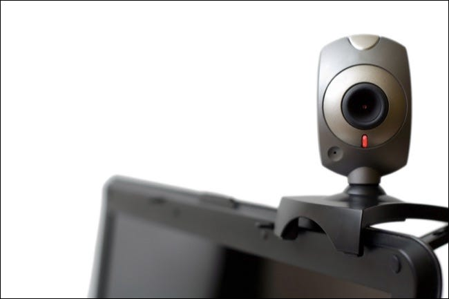 Webcamera On Laptop Staring At You(clipping Path)