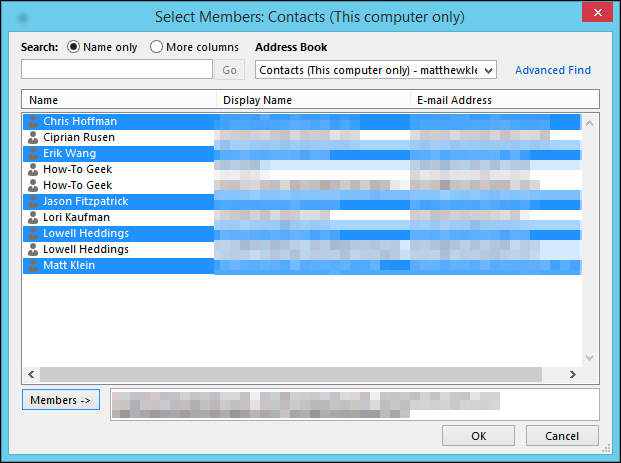 how to make a new email group in outlook