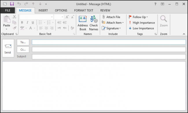 how to compose and send email in outlook 2013