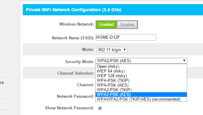 Wi-Fi Security: Should You Use WPA2-AES, WPA2-TKIP, or Both? - Tips